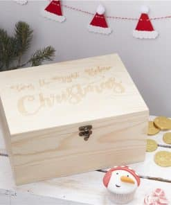 Wooden Christmas Eve Box - 28cm