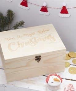 Wooden Christmas Eve Box - 28cm