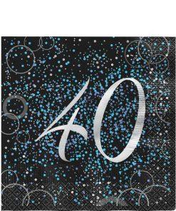 40th Blue Glitz