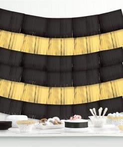 Black Foil Decorative Hanging Backdrop Decoration