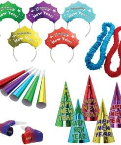 Colourful New Year Party Kit for 10 Guests
