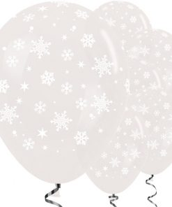 Crystal Clear Snowflakes Balloons