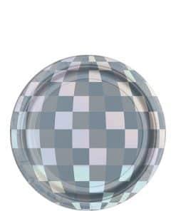 Disco Ball Drop Iridescent Paper Plates