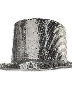 Disco Ball Drop Top Hat
