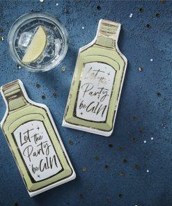Gin Bottle Shaped Paper Napkins