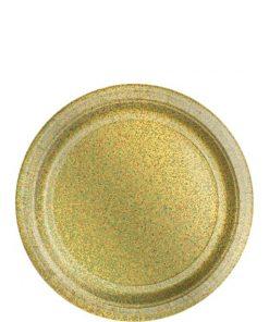 Gold Prismatic Paper Plates