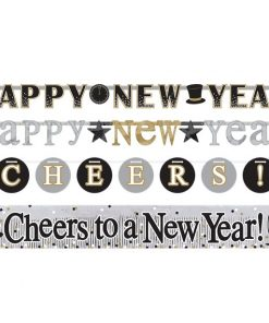 Happy New Year Letter Banners