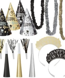 Metallic New Year Party Kit for 10 Guests