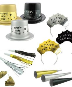 Metallic New Year Party Kit for 20 Guests