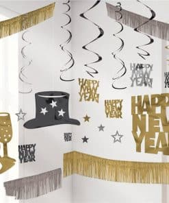 Metallic New Year Room Decorating Kit