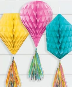 Multi Mini Honeycombs with Tassels Decoration