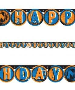 NERF Happy Birthday Letter Banner