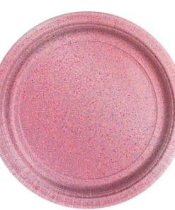 Pink Prismatic Plate - 23cm