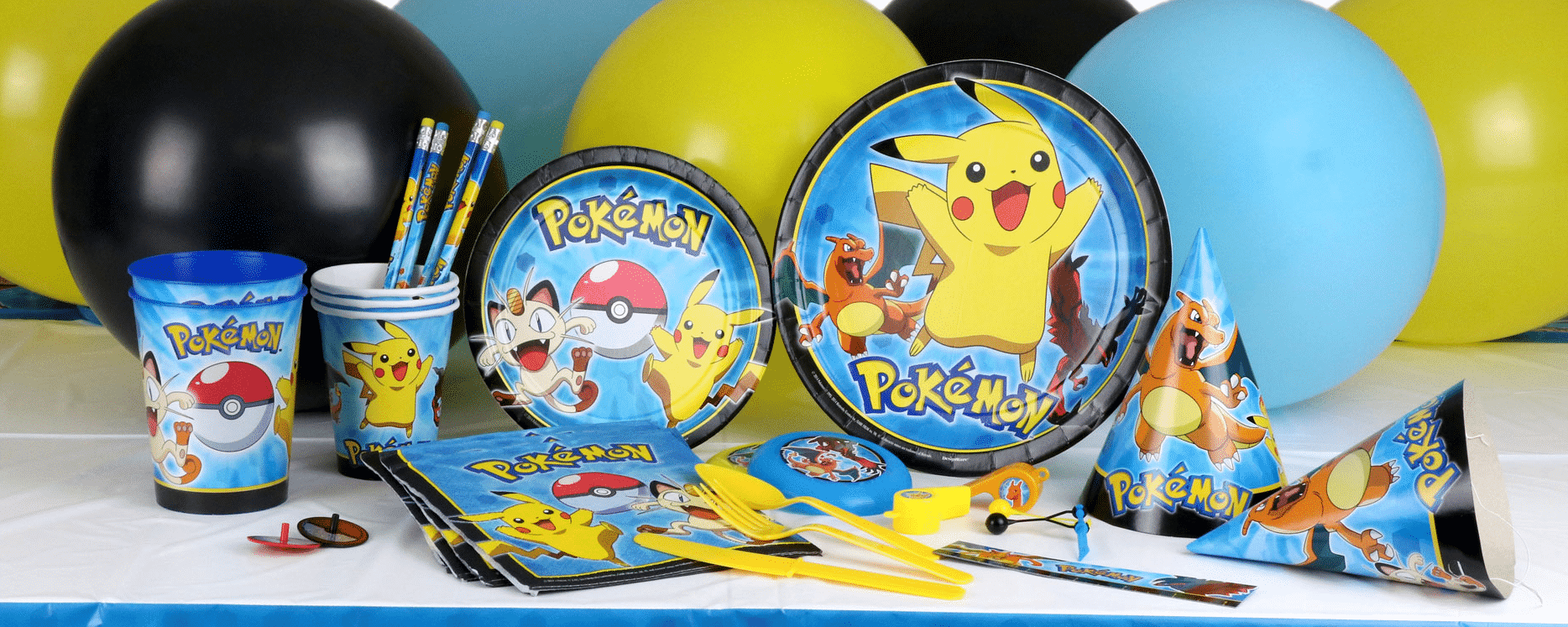 Pokemon themed party supplies, Pokemon Go Party decorations & balloons next day delivery