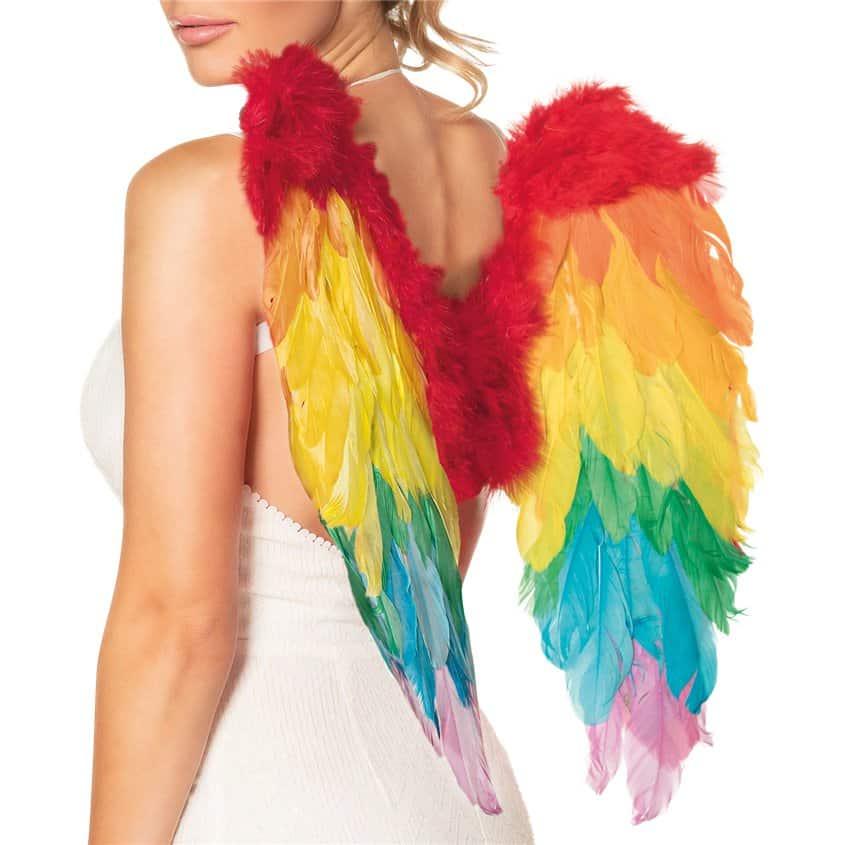 Rainbow Angel Wings Costume Accessories