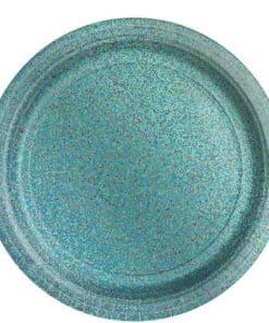 Robin's Egg Blue Prismatic Plates