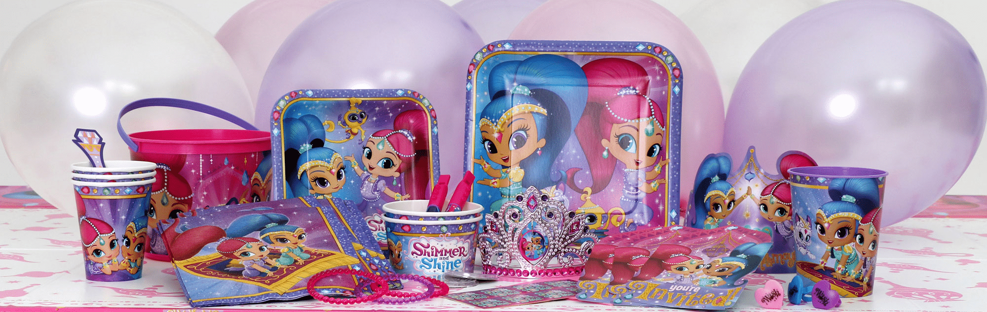 Shimmer & Shine themed party supplies, Shimmer & Shine Party decorations & balloons next day delivery