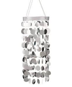 Silver Hanging Circle Chandelier Decoration