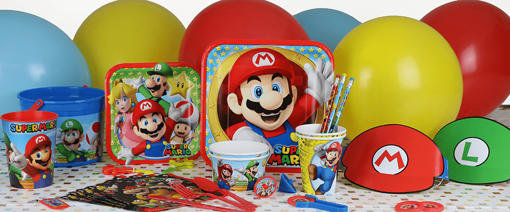 Super Mario themed party supplies, Super Mario Party decorations & balloons next day delivery