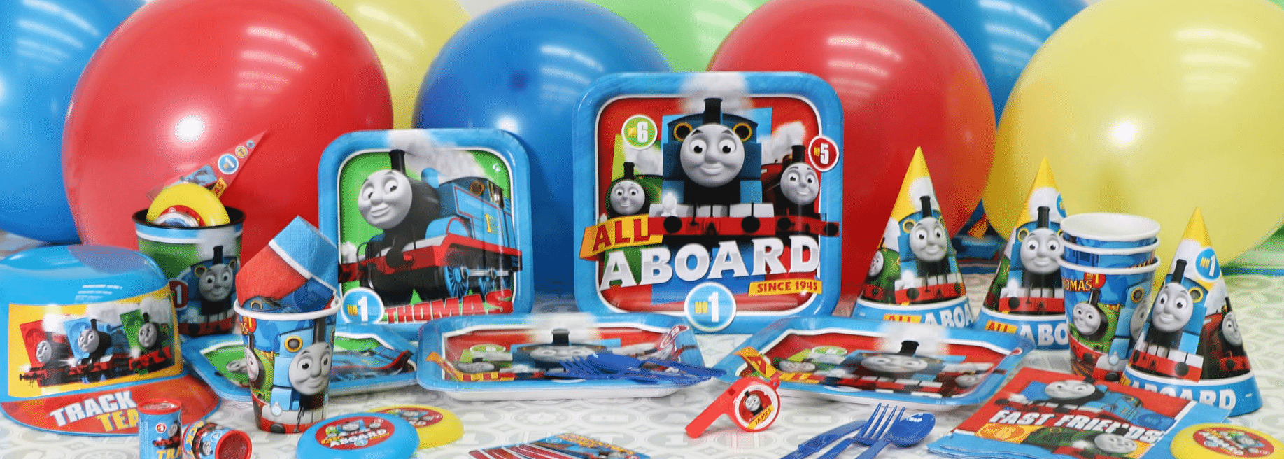 Thomas The Tank Engine themed party supplies, Thomas Party decorations & balloons next day delivery