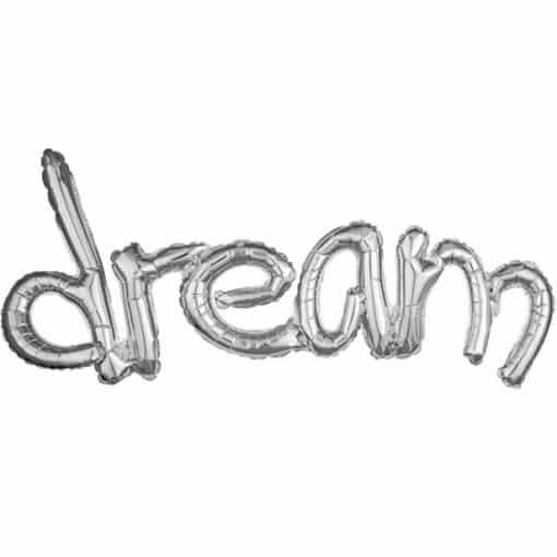 Dream Silver Freestyle Phrase Balloon