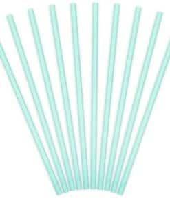 Light Blue Paper Straws
