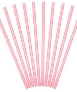 Light Pink Paper Straws