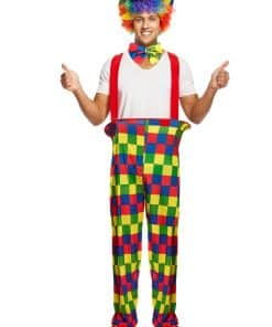 Rainbow Clown Adult Costume
