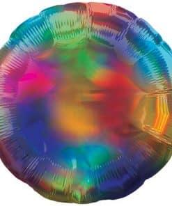 Rainbow Iridescent Circle Balloon