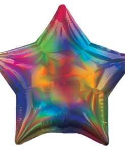 Rainbow Iridescent Star Balloon