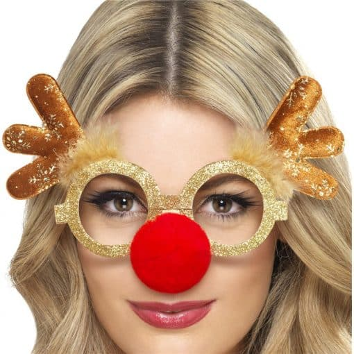 Reindeer Comedy Glasses