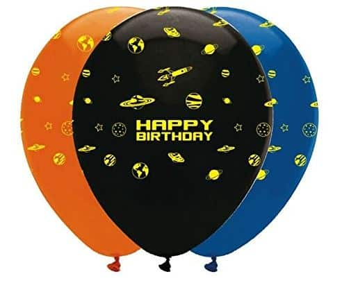 Next Day Delivery Space Blast Party Balloons