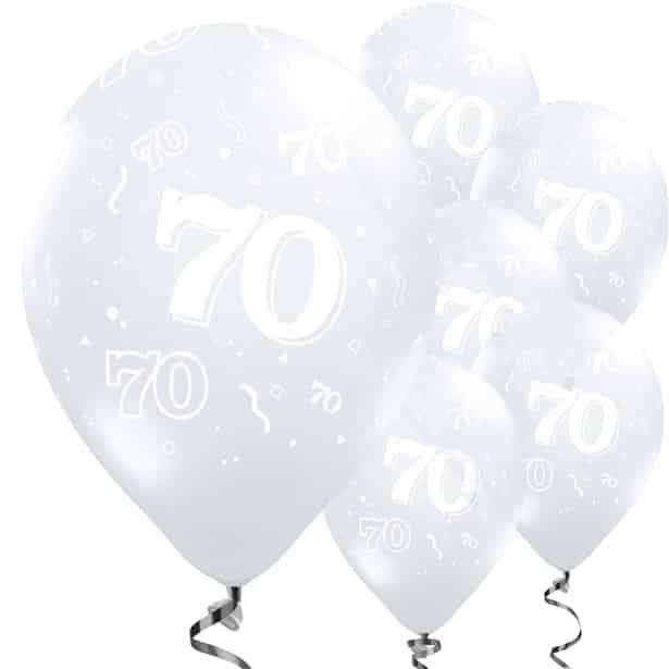 70th Birthday Diamond Clear Balloons