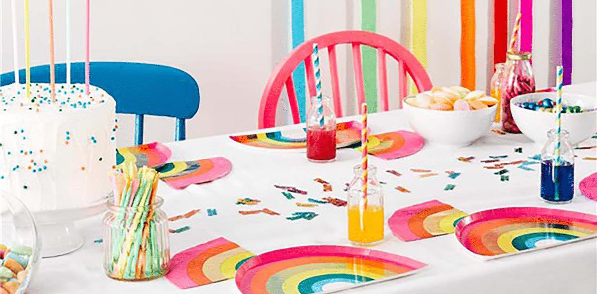 Birthday Brights Rainbow Party Decor, Tableware & Rainbow Bunting & Banners 1