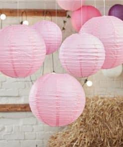 Boho Wedding Baby Pink Paper Lanterns