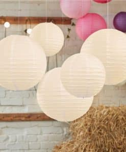 Boho Wedding Ivory Paper Lanterns