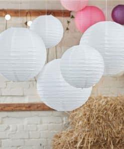 Boho Wedding White Paper Lanterns