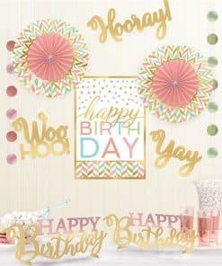 Confetti Fun Birthday Room Decorating Kit