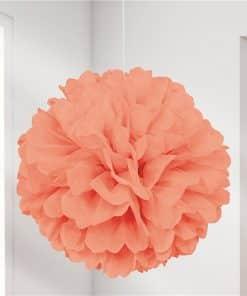 Coral Pom Pom Decoration