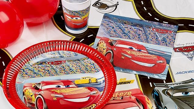 Disney Cars Themed Party Decorations, Balloons & Paper Plates Next Day Delivery