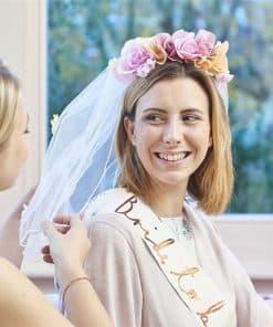 Floral Headband & Veil