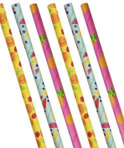 Fruit Salad Paper Straws