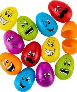 Funny Face Fillable Easter Eggs