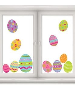 Glitter Easter Egg Window Decorations