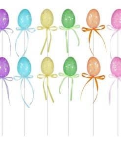 Glittery Easter Egg Picks