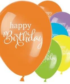 Happy Birthday Printed Latex Balloons