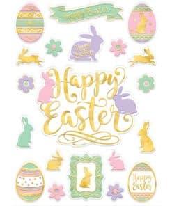 Happy Easter Window Decorations