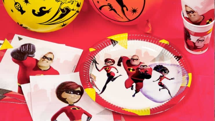 Incredibles themed party decorations with Next Day Delivery