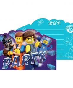 Lego Movie 2 Party Postcard Invitation