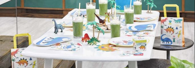 Little Dino Party Decorations, Dinosaur party for younger children, talking tables dino range Next Day Delivery